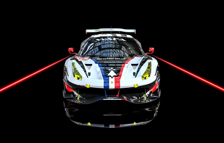 Photo wallpaper Auto, Machine, Car, Render, Supercar, Supercar, FIA, Ferrari 488, Racecar, Transport & Vehicles, Benoit Fraylon, …