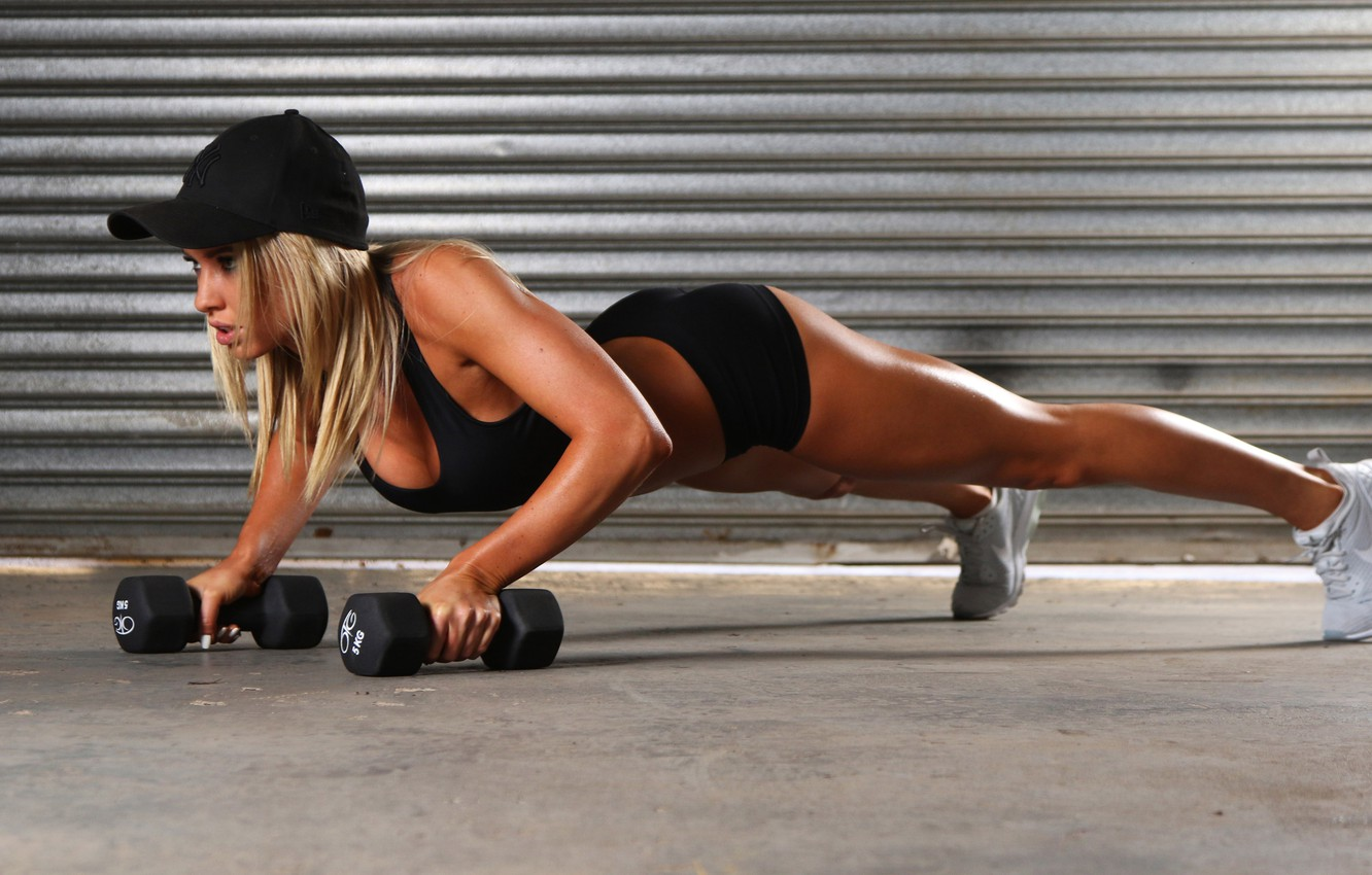 Photo wallpaper exercise, fitness, pilates, activewear, plunk