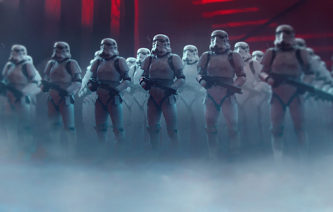 Photo wallpaper Star Wars, Soldiers, Art, Stormtroopers, Stormtroopers, StarWars, Star
