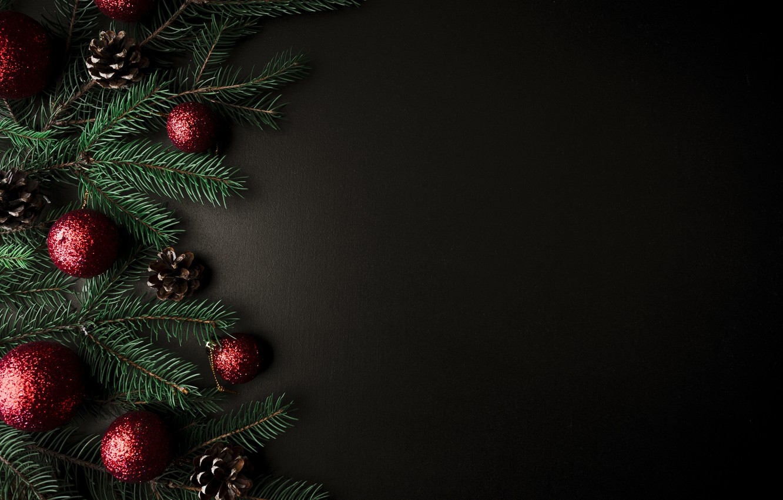 Photo wallpaper balls, tree, New Year, Christmas, Christmas, balls, New Year, decoration, Merry, fir tree, fir-tree branches