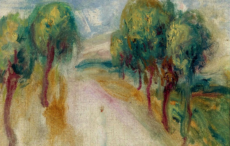 Photo wallpaper landscape, picture, Pierre Auguste Renoir, Pierre Auguste Renoir, Shady Way