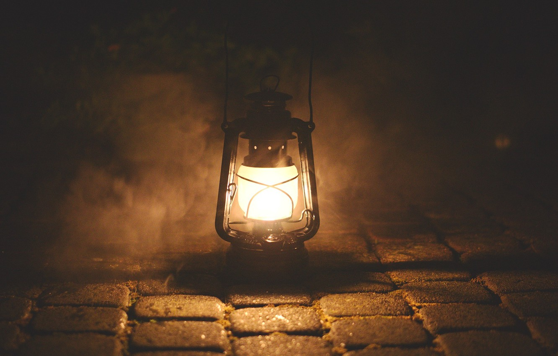 Photo wallpaper light, smoke, lamp, burns