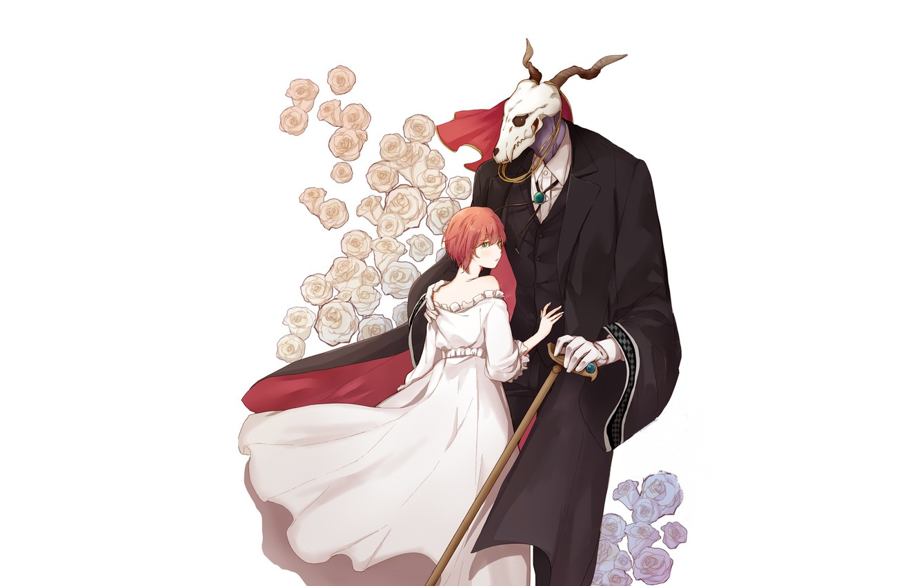 Photo wallpaper Mahou Tsukai no Yome, The Ancient Magus' Bride, Elias Ainsworth, Hatori Chise