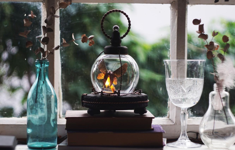 Photo wallpaper lamp, Firefly, night light
