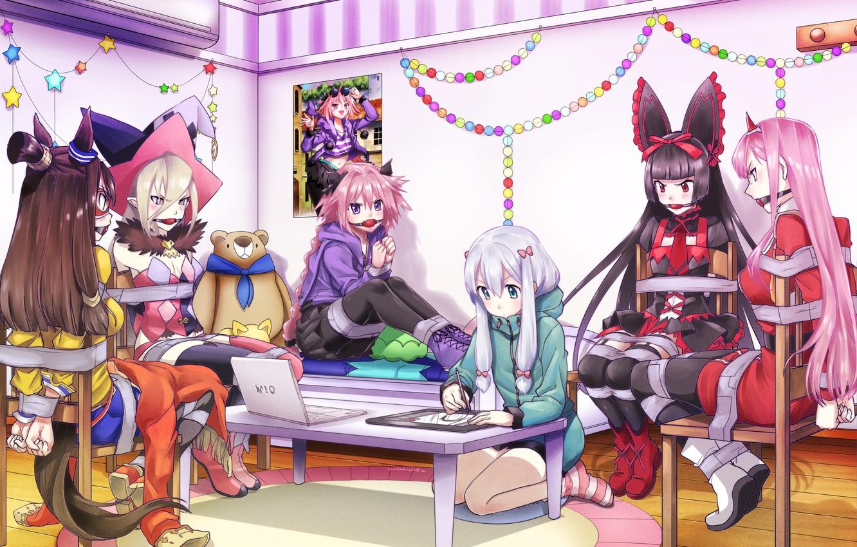 Wallpaper Girls Laptop Crossover Related Eromanga Sensei Images For Desktop Section Syonen Download