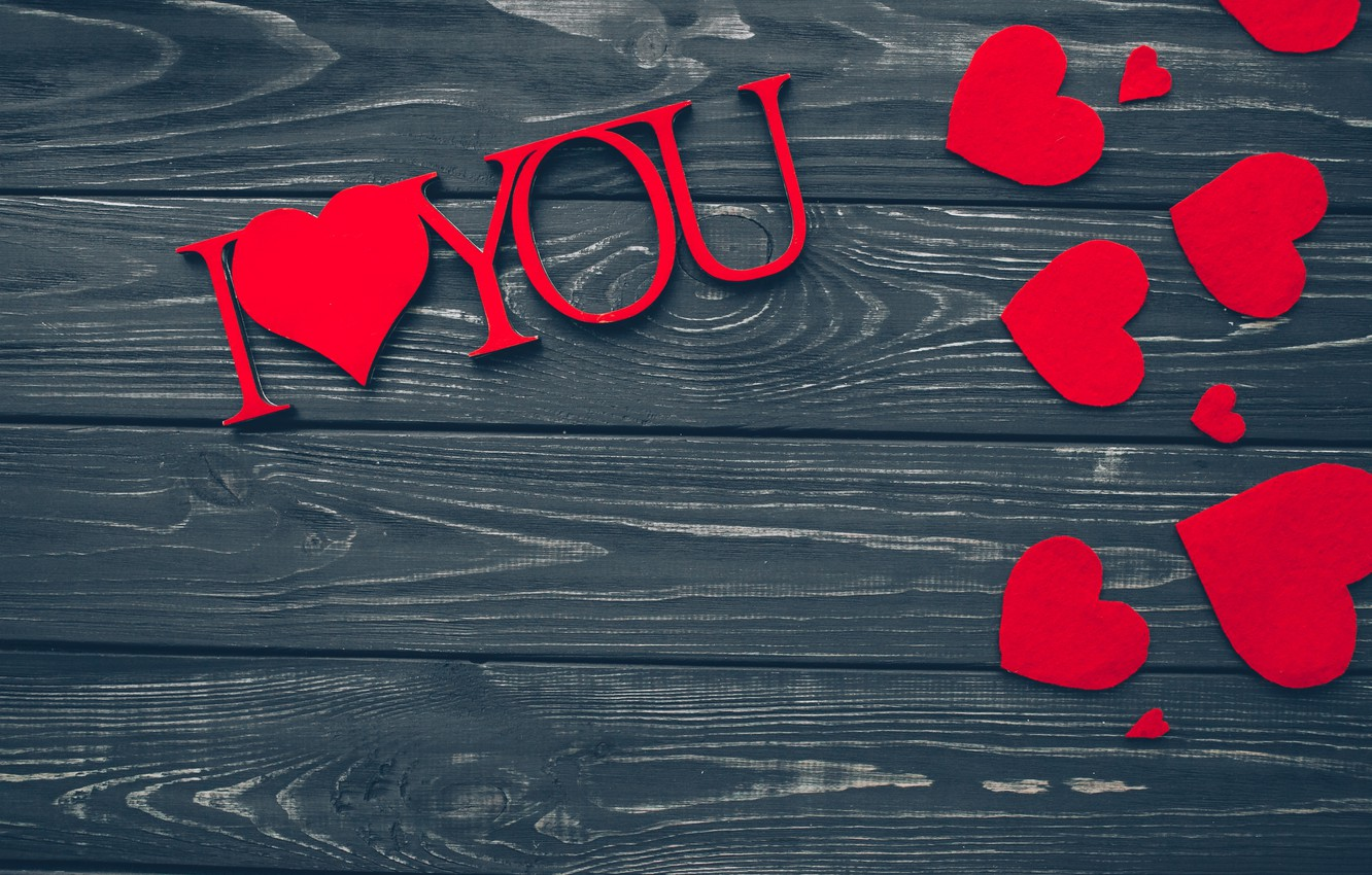 Wallpaper Love Heart Red Love Wood Romantic Hearts Valentine S Day Gift I Love You Images For Desktop Section Nastroeniya Download
