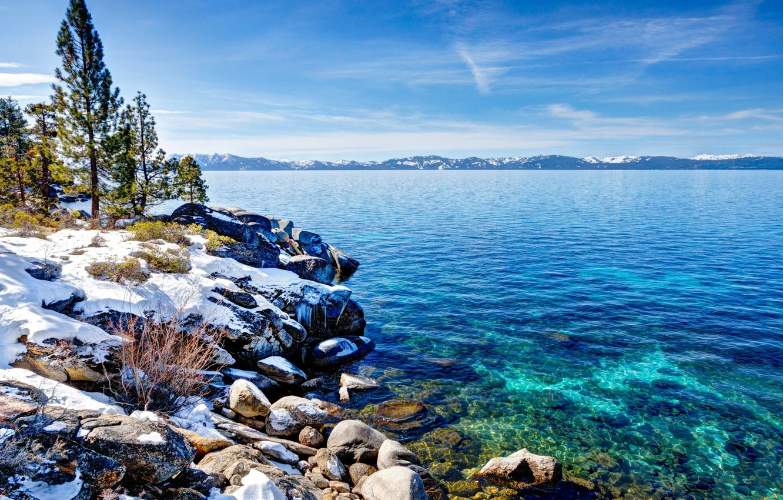 Wallpaper Winter Snow Nature Ca Lake Tahoe Ohero Images