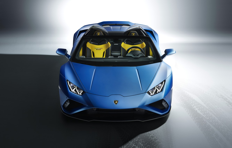 Photo wallpaper Lamborghini, front view, Spyder, Huracan, 2020, RWD, Huracan EVO