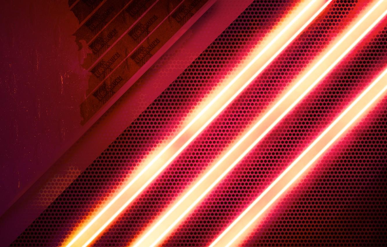 Photo wallpaper car, Wallpaper, lost, neon, grille, light, metal, red, glass, car, black, radiator, adidas, modern, retro, …