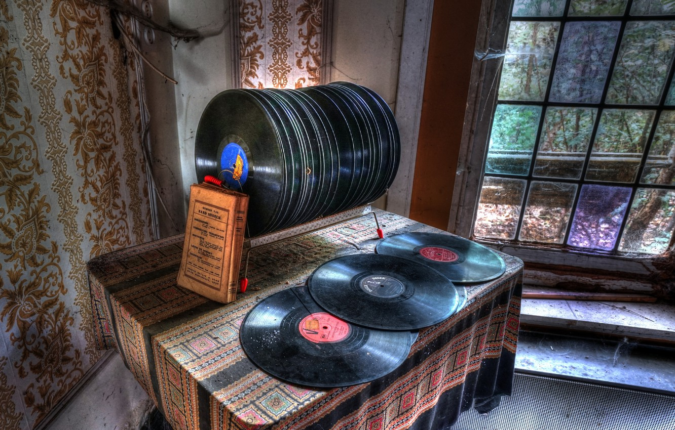 Photo wallpaper music, vinyl, records