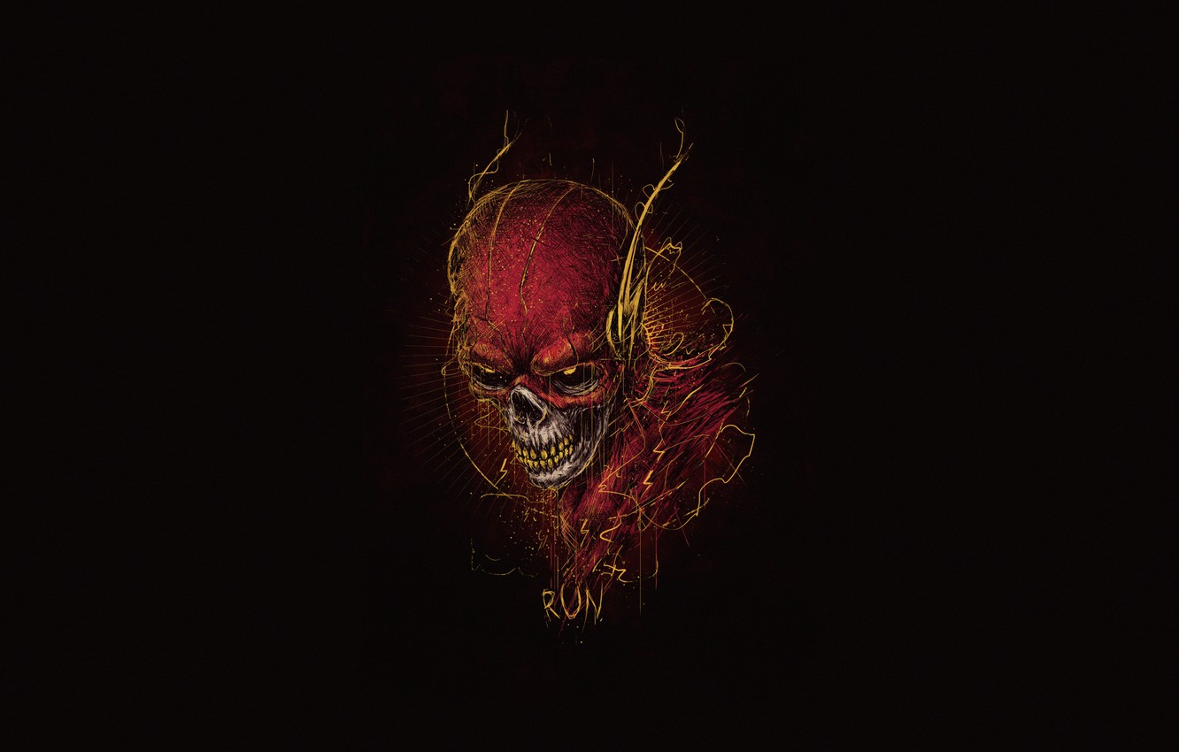 Wallpaper The Flash Bogdan Timchenko The Demon Skull