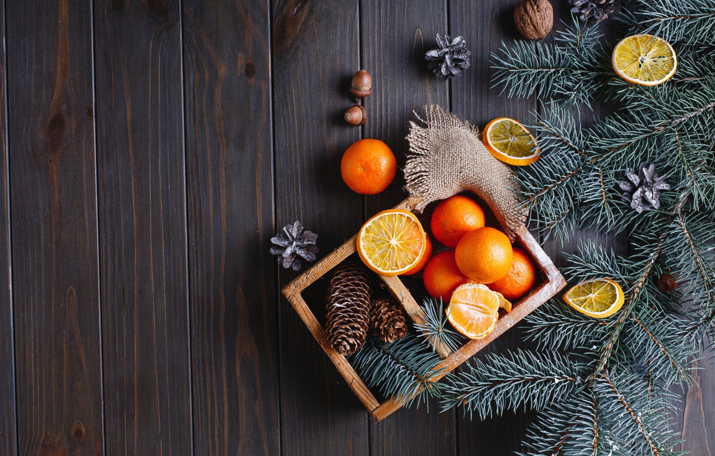 Photo wallpaper decoration, oranges, New Year, Christmas, Christmas, wood, fruit, orange, New Year, tangerines, decoration, tangerine, Merry, …