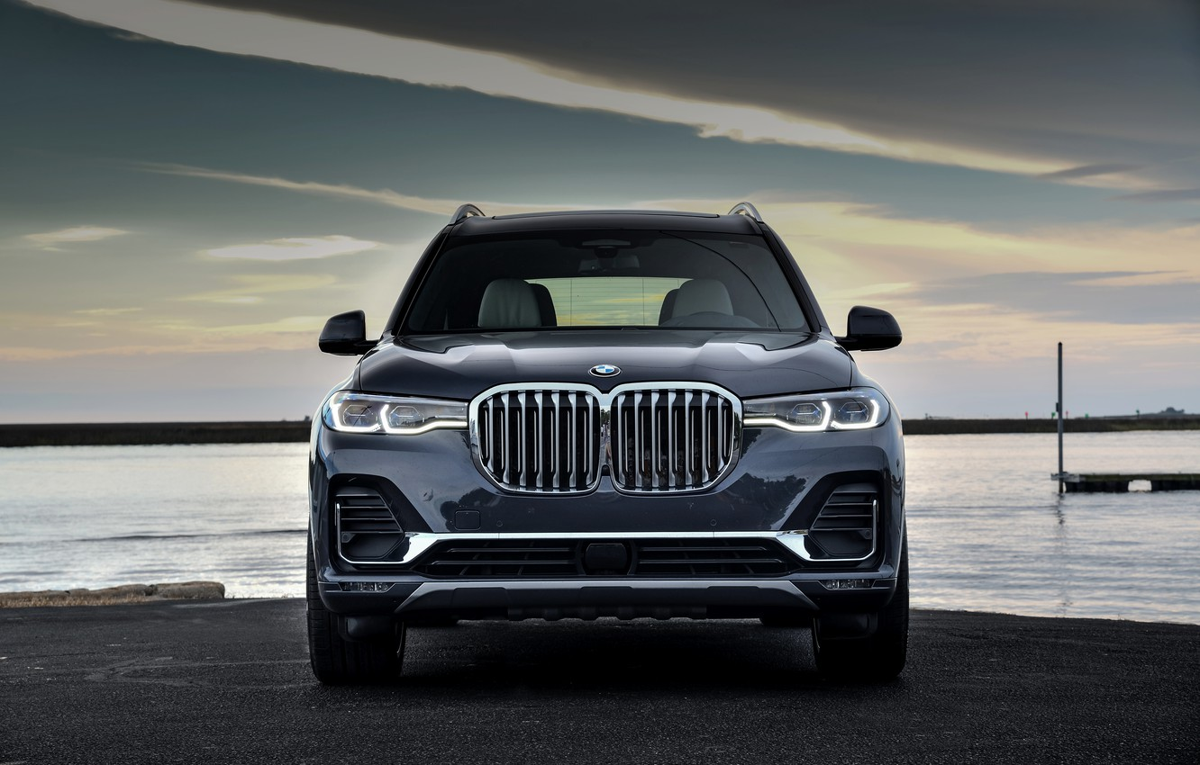 Photo wallpaper BMW, 2018, on the shore, crossover, SUV, 2019, BMW X7, X7, G07