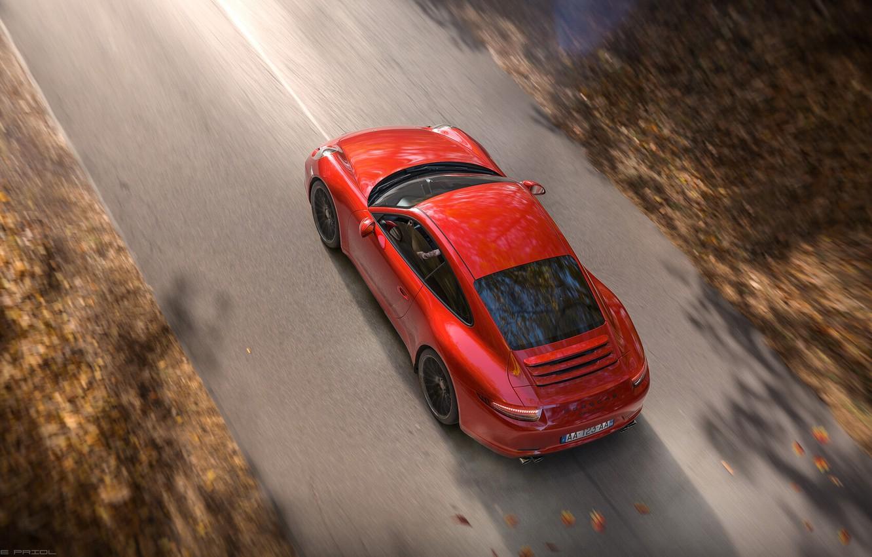 Photo wallpaper Red, Auto, Road, Porsche, Machine, Red, Render, Carrera, Rendering, Sports car, Porsche 911 Carrera, Transport …