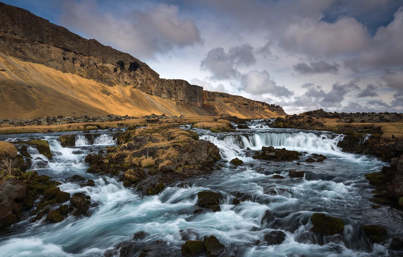 Photo wallpaper Vestur-Skaftafellssysla, Southern Iceland, Cascading River