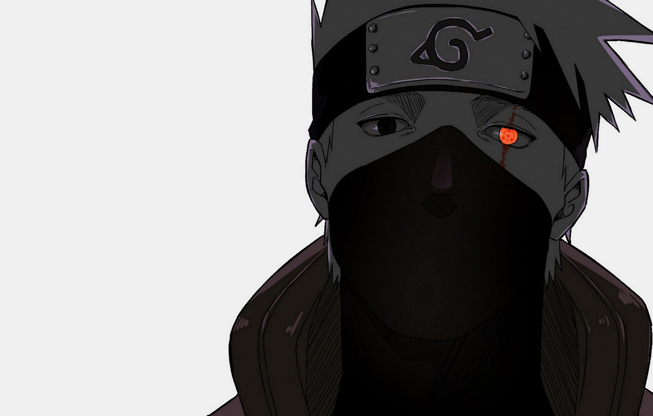Wallpaper Look Mask Naruto Naruto Sharingan Kakashi