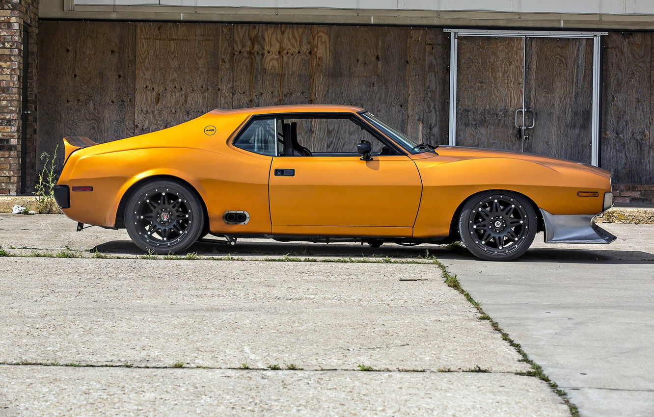 Photo wallpaper Orange, Car, Coupe, AMX, AMC Javelin