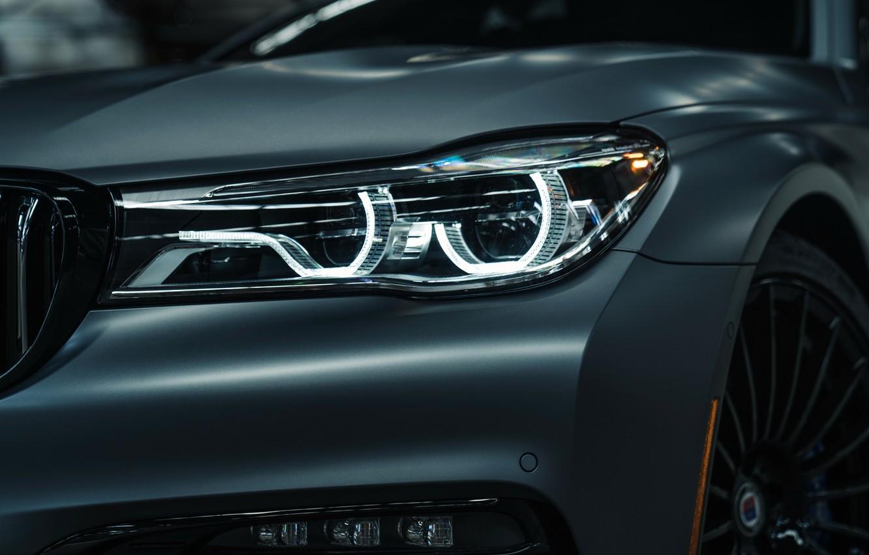 Photo wallpaper headlight, BMW, 2018, 7-Series, Alpina, Bi-Turbo, Exclusive Edition, Alpina B7