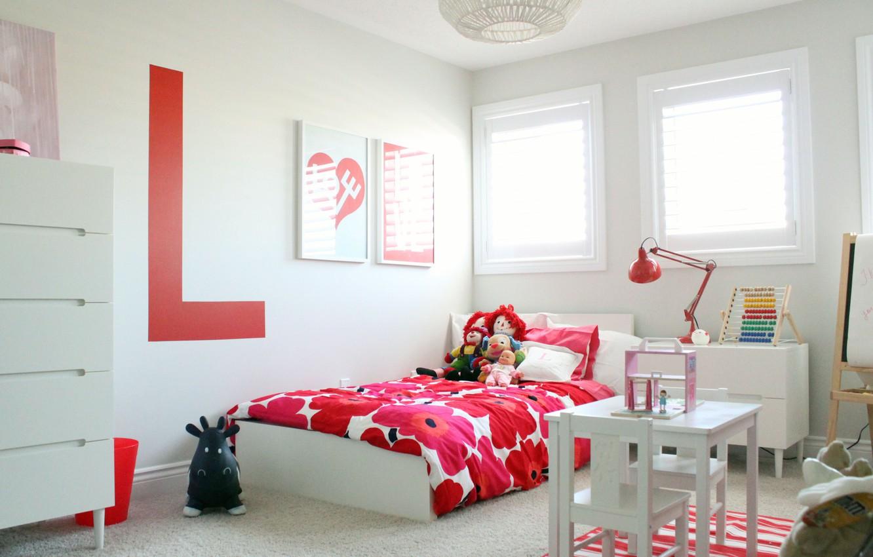 Photo wallpaper design, toys, bed, interior, children's room
