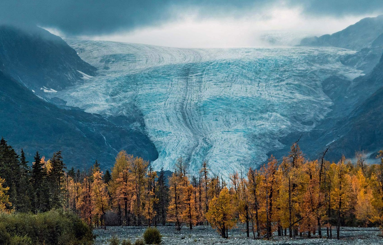 Photo wallpaper glacier, Alaska, USA, National Park Kenai fjords