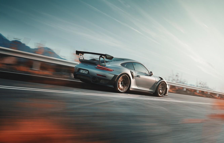 Photo wallpaper speed, 911, Porsche, side view, 2018, GT2 RS
