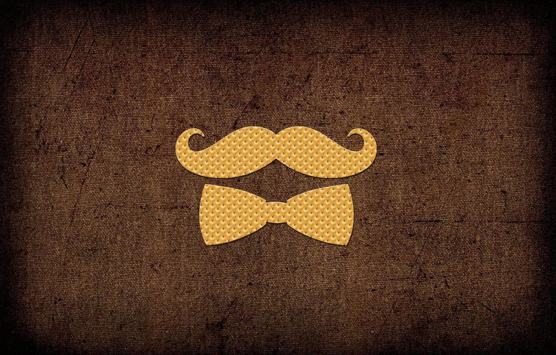 Photo wallpaper Butterfly, Mustache, Cookies, Mustache Gentleman