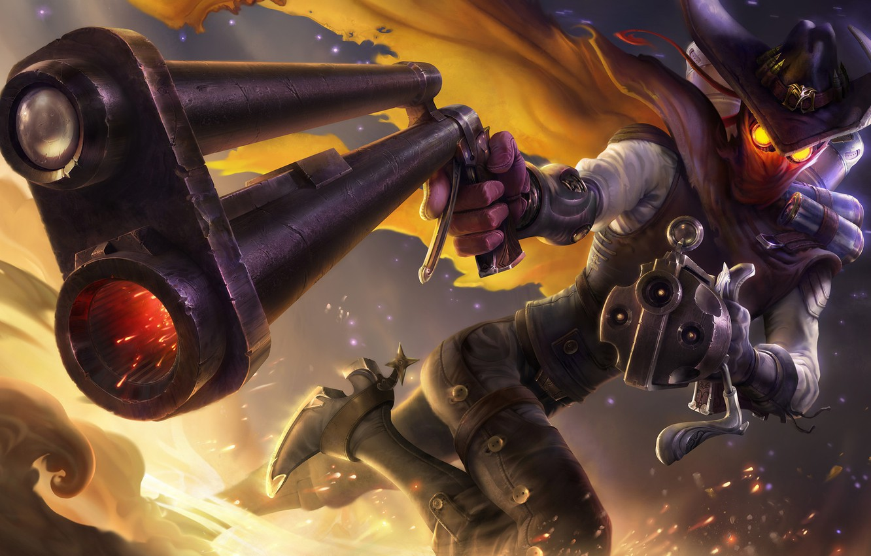 Wallpaper Fantasy Art Guns League Of Legends Illustration