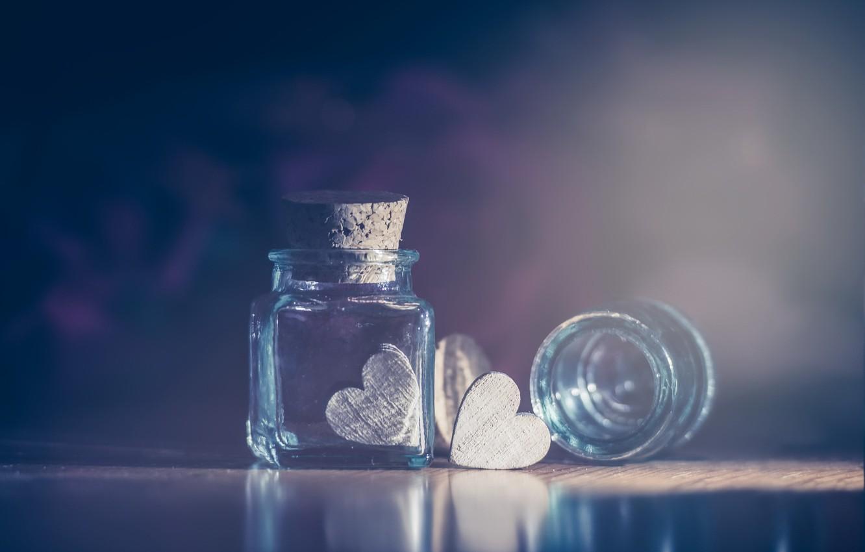 Photo wallpaper background, heart, Bank