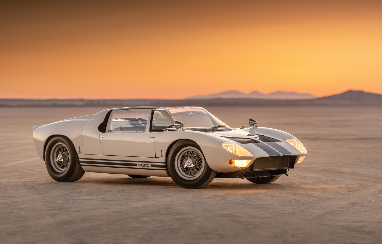 Photo wallpaper Roadster, Ford, Prototype, the evening, Ford GT, 1965, GT40