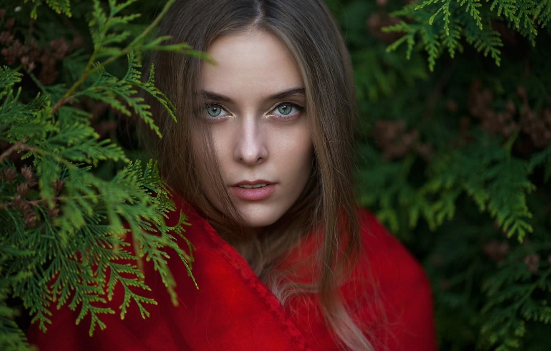 Photo wallpaper eyes, girl, face, lips, girl, Beautiful, lips, face, Beautiful, eye, green-eyed, green-eyed, Amina Cutinova, A …