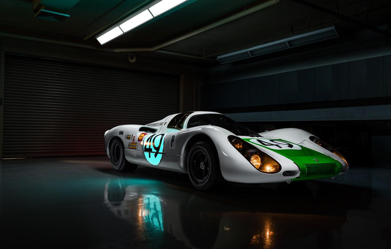 Photo wallpaper lights, Porsche, racing car, Jeremy Cliff, Porsche 907, 907