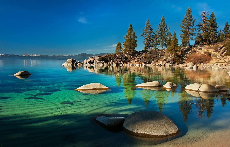 Wallpaper Lake Nevada Nevada Lake Tahoe Stones In Water Images For Desktop Section Pejzazhi Download