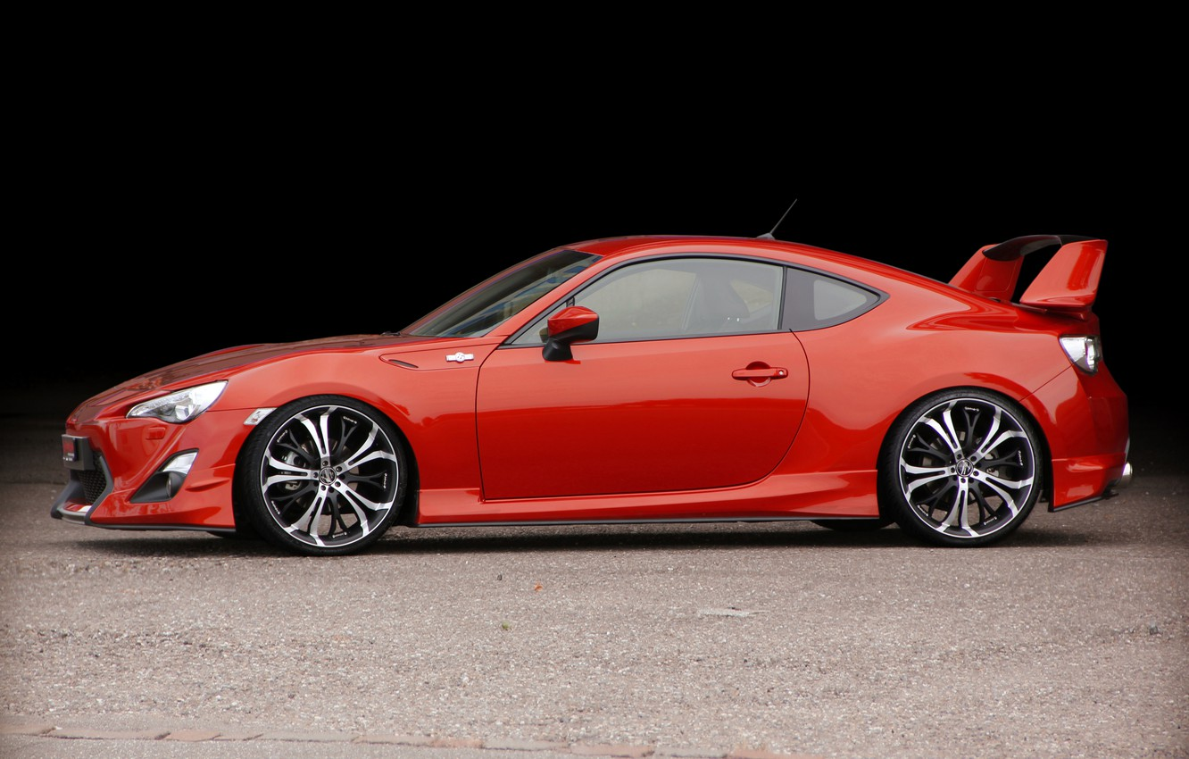 Photo wallpaper coupe, wing, Toyota, 2012, GT86, Barracuda Wheels