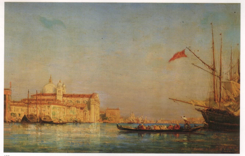 Photo wallpaper VENICE, The Giudecca, Felix Ziem Oil Paintings, LAND, Venice Oil Painting
