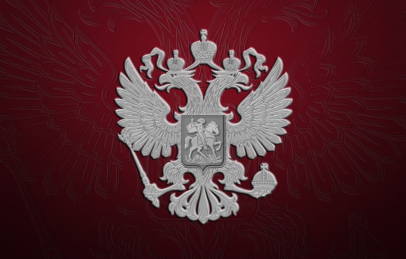 Photo wallpaper background, texture, flag, Background, Russia, coat of arms