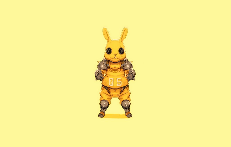 Photo wallpaper Art, Minimalism, Characters, Bunny, Ren Wei Pan, Bunny guard