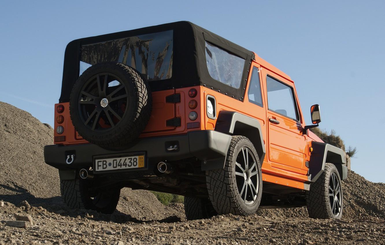 Photo wallpaper orange, SUV, bumper, 2011, 4x4, spare wheel, Travec, Tecdrah Integrale 1.5 TTi, Renault/Dacia Duster, frame