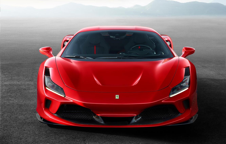 Photo wallpaper machine, lights, optics, Ferrari, sports car, F8 Tributo