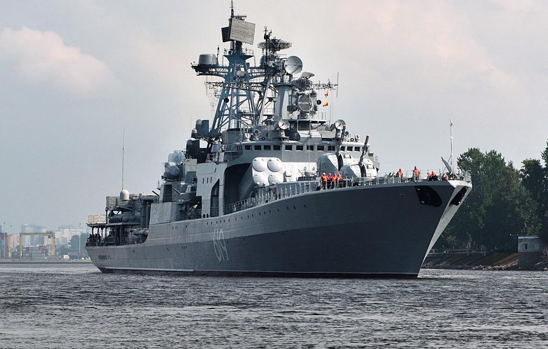Photo wallpaper ship, large, anti-submarine, Severomorsk