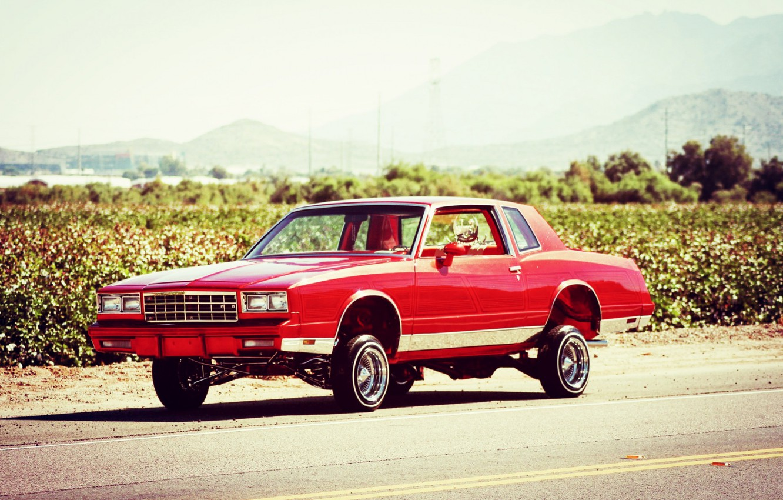Photo wallpaper Chevrolet, Tuning, Lowrider, Monte Carlo