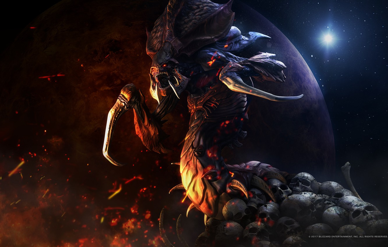 Photo wallpaper victory, monster, mouth, starcraft, zerg, Zerg, strategy, remastered