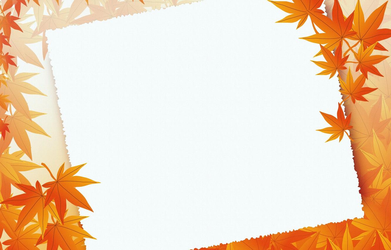 Photo wallpaper leaves, postcard, template, blank