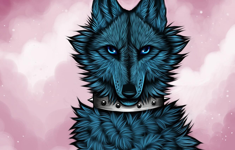 Photo wallpaper wolf, art, myarukawolf, by myarukawolf