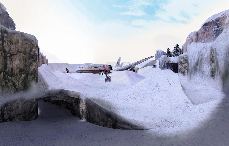 Photo wallpaper snow, snow, Counter Strike, Full HD, Counter Strike, CS 1.6, de_survivor
