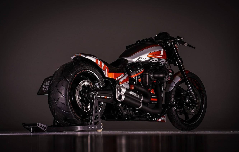 Photo wallpaper Harley-Davidson, Custom, Thunderbike