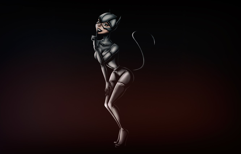Photo wallpaper Minimalism, Figure, Cat, Costume, Background, Latex, Comic, Art, Cat woman, Comics, DC Comics, Catwoman, Characters, …