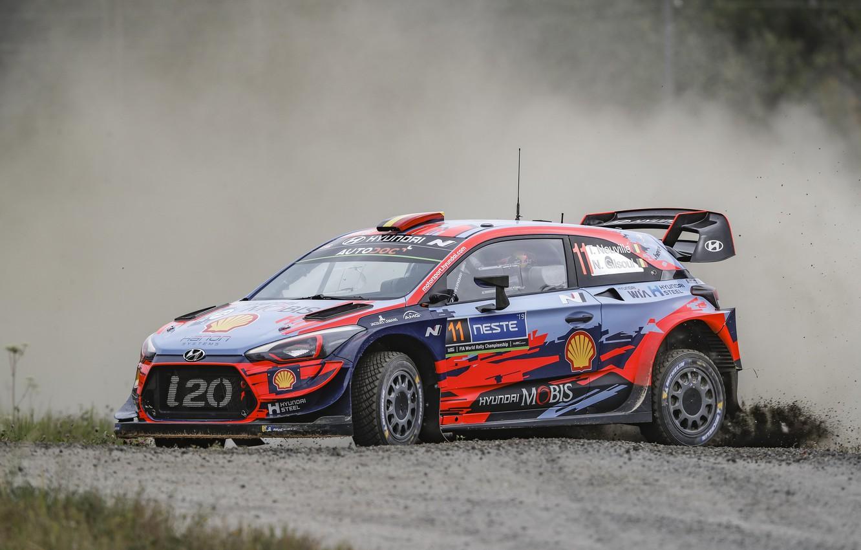 Photo wallpaper wrc, hyundai, i20 coupe, rally finland