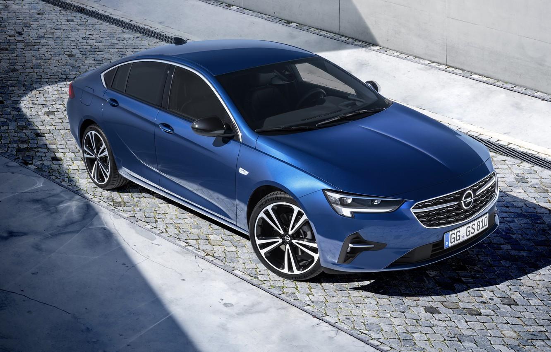 Photo wallpaper auto, light, blue, Opel, Insignia Grand