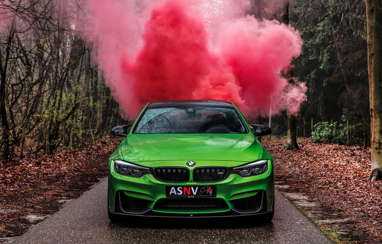 Photo wallpaper BMW, Green, M-Performance