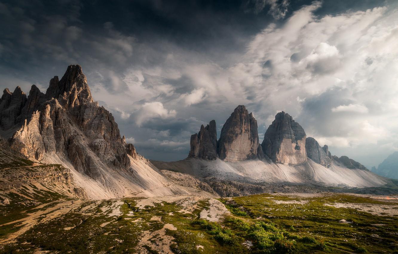 Photo wallpaper mountains, Italy, The Dolomites